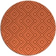 rug #372721 | round orange graphic rug
