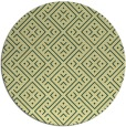 rug #372725 | round yellow graphic rug