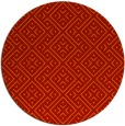 rug #372765 | round red graphic rug