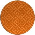 rug #372781 | round red-orange traditional rug
