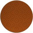 rug #372785 | round red-orange traditional rug