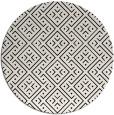 rug #372793 | round black graphic rug