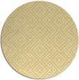 rug #372809 | round yellow geometry rug