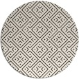 rug #372817 | round brown graphic rug