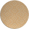 rug #372837 | round orange traditional rug