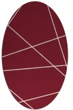 rug #373789 | oval stripes rug