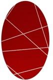 rug #373817 | oval red stripes rug