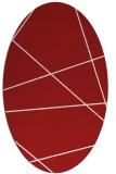 rug #373825 | oval red stripes rug