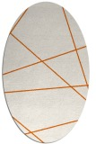 rug #373845 | oval red-orange abstract rug