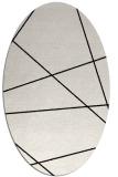 rug #373849 | oval white stripes rug