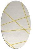 rug #373853   oval white stripes rug