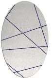 rug #373857 | oval white stripes rug