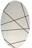 rug #373873 | oval brown stripes rug