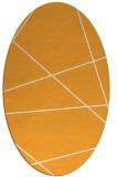rug #373925   oval light-orange stripes rug
