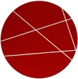 rug #374521 | round red abstract rug