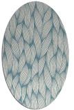 rug #377121 | oval blue-green natural rug