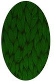 rug #377165 | oval green popular rug