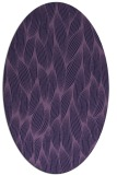 rug #377193 | oval purple natural rug