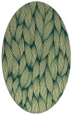 rug #377301 | oval blue-green rug