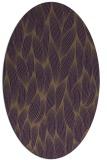 rug #377329   oval purple natural rug