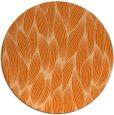 rug #378061 | round red-orange natural rug