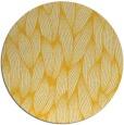 rug #378089 | round yellow natural rug