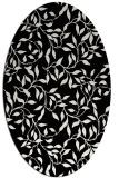 rug #378861 | oval black natural rug