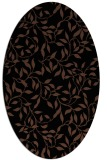 rug #378873 | oval brown rug