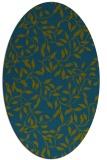 rug #378917 | oval blue-green natural rug
