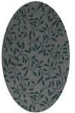 rug #378985 | oval blue-green natural rug