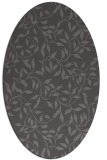 rug #379005 | oval brown rug