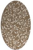 rug #379009   oval mid-brown natural rug