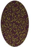 rug #379085 | oval natural rug