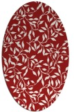 rug #379105 | oval red natural rug