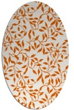 rug #379125 | oval red-orange natural rug