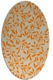 rug #379173   oval orange popular rug