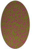 rug #379185 | oval light-green natural rug