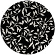 rug #379565 | round black natural rug
