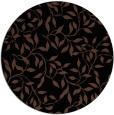 rug #379577 | round brown rug