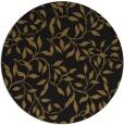 rug #379677 | round black natural rug