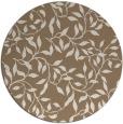 rug #379713 | round mid-brown natural rug