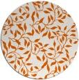 rug #379829 | round red-orange natural rug