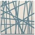 rug #380289 | square blue-green stripes rug