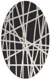 rug #380623 | oval stripes rug