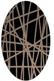 rug #380629 | oval beige abstract rug