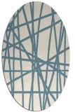 rug #380641   oval white abstract rug