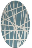 rug #380642 | oval abstract rug