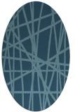 rug #380643 | oval abstract rug