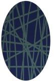 rug #380649   oval blue abstract rug