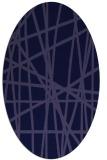 rug #380701   oval blue-violet rug